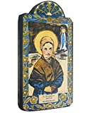 Modern Artisans Saint Bernadette Patron Saint of Sick and Poor Handmade Retablo Plaque, 3.5 x 6.5 Inches