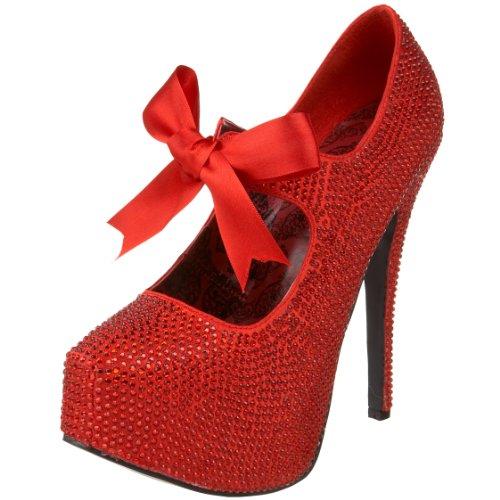 Femme Red Tee04r Rhinestones bp Escarpins Pleaser qB8xA