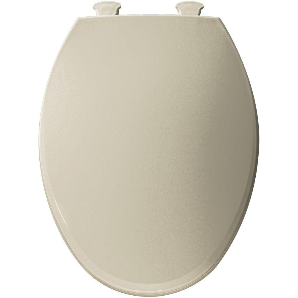 Bemis 1800EC 006 Lift-Off Plastic Elongated Toilet Seat, Bone