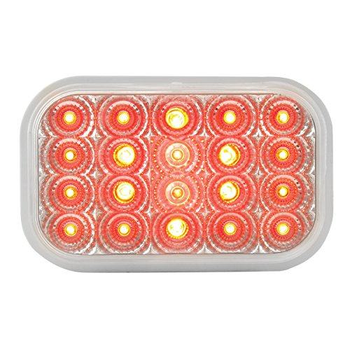 GG Grand General 77014BP Spyder Series Rectangular Red LED Stop/Turn/Clearance Light for Trucks, Trailers, RVs, Buses…