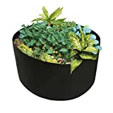 Mokylor 150-Gallon Extra Large Raised Bed, Round Grow Bag Diameter 46'' Height 22'' Made Of Growth Friendly Felt for Nursery Garden and Planting Grow (Black)