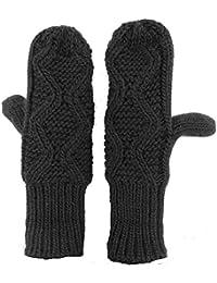 Women's Winter Gloves Crochet Twist Cable Knit Hand Warmer Mittens