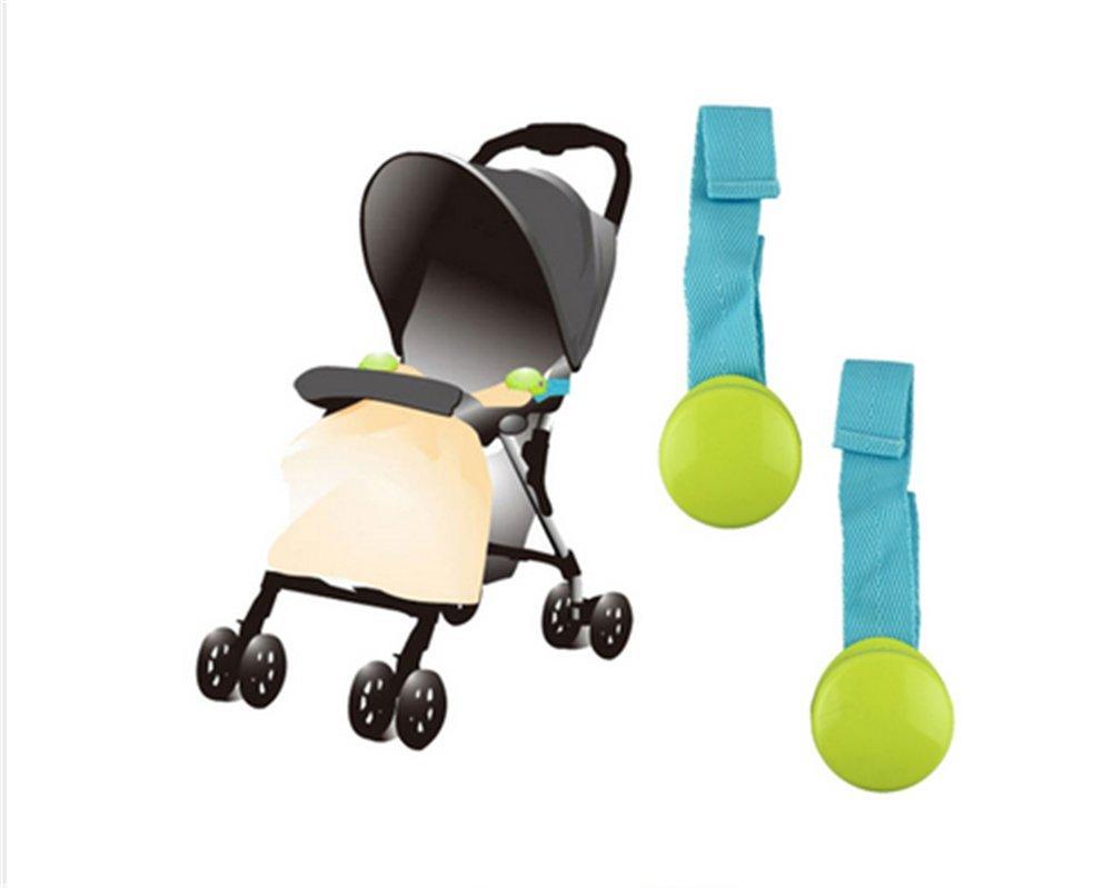 Affe Baby 2pcs / Set Kleinkind Decke Clip Klammer Clip für Kinderwagen (Blau) ZGJ
