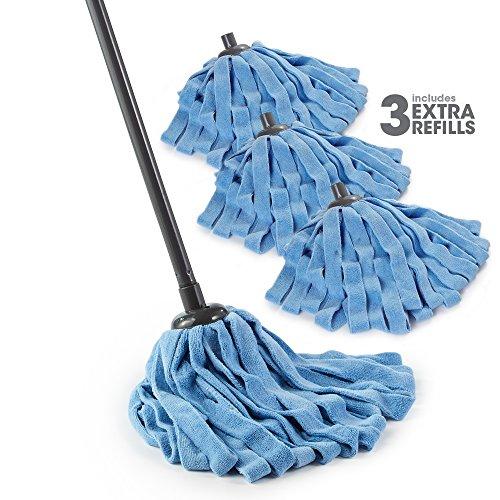 O-Cedar Microfiber Cloth Mop (Microfiber Cloth Mop with 3 Extra Refills, Pack - 1)