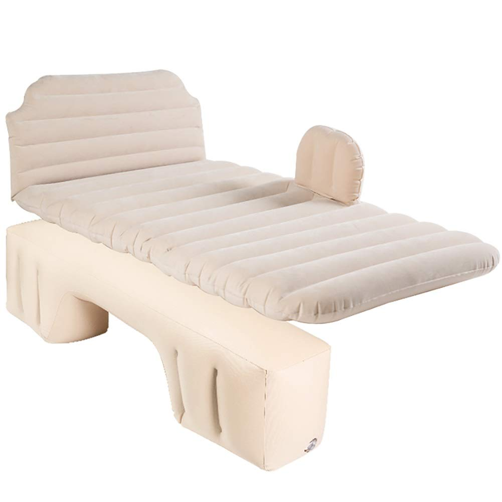 旅行膨脹可能なベッド - 群がらせたキャンプの空気ベッド、携帯用後部座席延長マットレス (色 : ベージュ)  ベージュ B07P9CPBPS