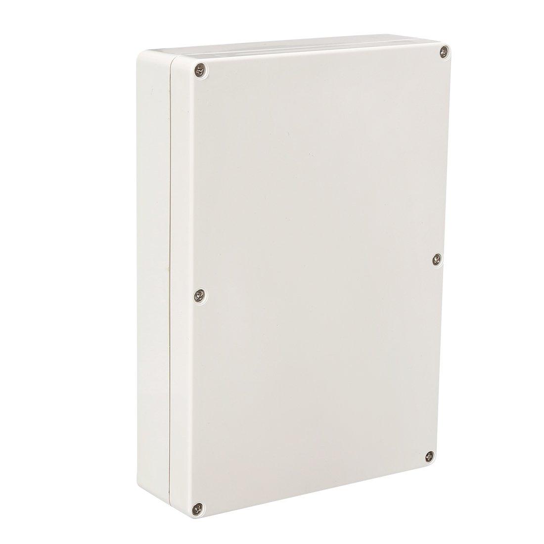 sourcing map 263 * 182 * 60mm Elektro ABS Plastik DIY Junktion Box geschlossen Deckel DE