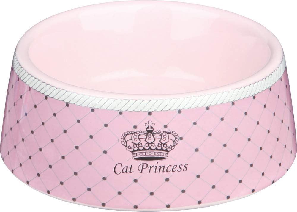 TRIXIE Comedero Cerámica Cat Princess, 0.18l, ø12 cm, Rosa, Gato