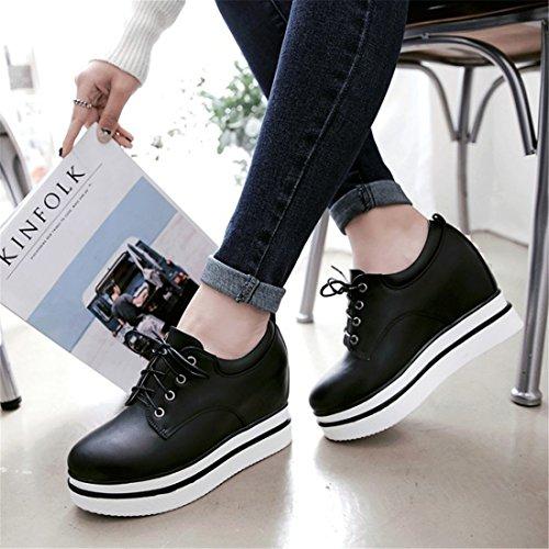 de Mujer black Plano Zapatos Zapatos Casual Mujer Fondo Sandalette Moda de Martin Zapatos de Ocio DEDE Remaches qxYnaw8