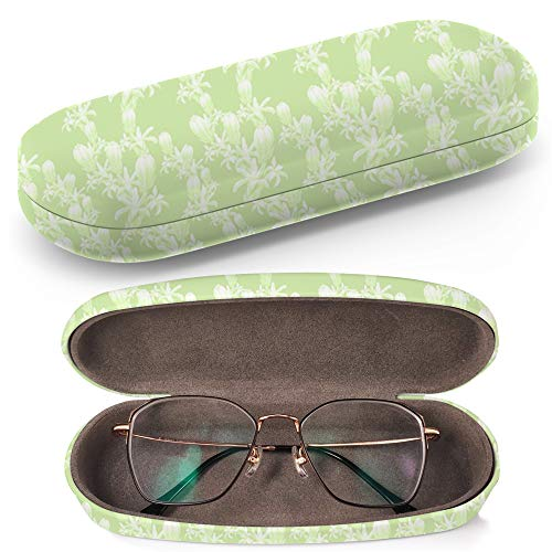 Hard Shell Glasses Protective Case with Cleaning Cloth for Eyeglasses and Sunglasses - Tuberose Branches Medicinal