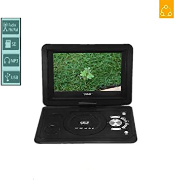 Fishlor Reproductor de DVD, TV HD de 13.9 Pulgadas Reproductor de DVD portátil Reproductor de TV USB Receptor de Radio de Juego 800 * 480 Resolución Pantalla LCD 16: 9(UE): Amazon.es: Electrónica