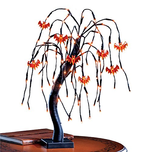 Light Up Halloween Willow Tree Outdoor Decoration, Metal