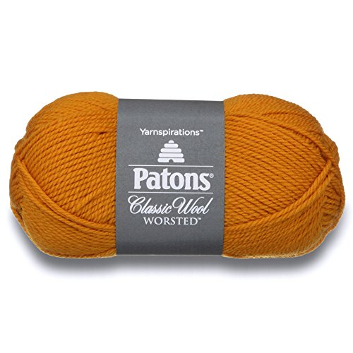 Patons  Classic Wool Yarn - (4) Medium Gauge 100% Wool - 3.5oz -  Yellow -   For Crochet, Knitting & Crafting ()