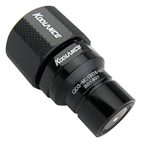 Koolance QD3-MS13X16-BK QD3 Male Quick Disconnect No-Spill Coupling, Compression for 13mm x 16mm (1/2in x 5/8in) ()
