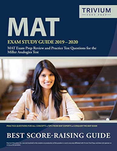 Pdf Test Preparation MAT Exam Study Guide 2019-2020: MAT Exam Prep Review and Practice Test Questions for the Miller Analogies Test