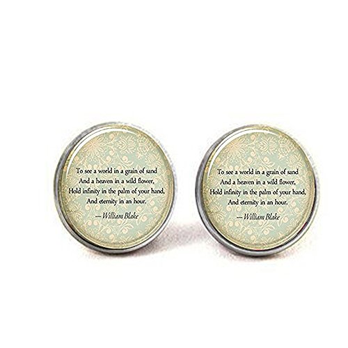 hars Custom Quote Earrings, Personalized Jewelry for Poem,
