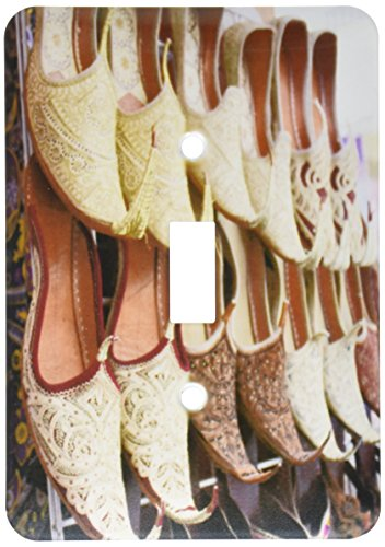 3dRose lsp_164785_1 Aladdin Babouche Pointy Shoes From Morocco Photo By Rhonda Albom - Single Toggle Switch ()