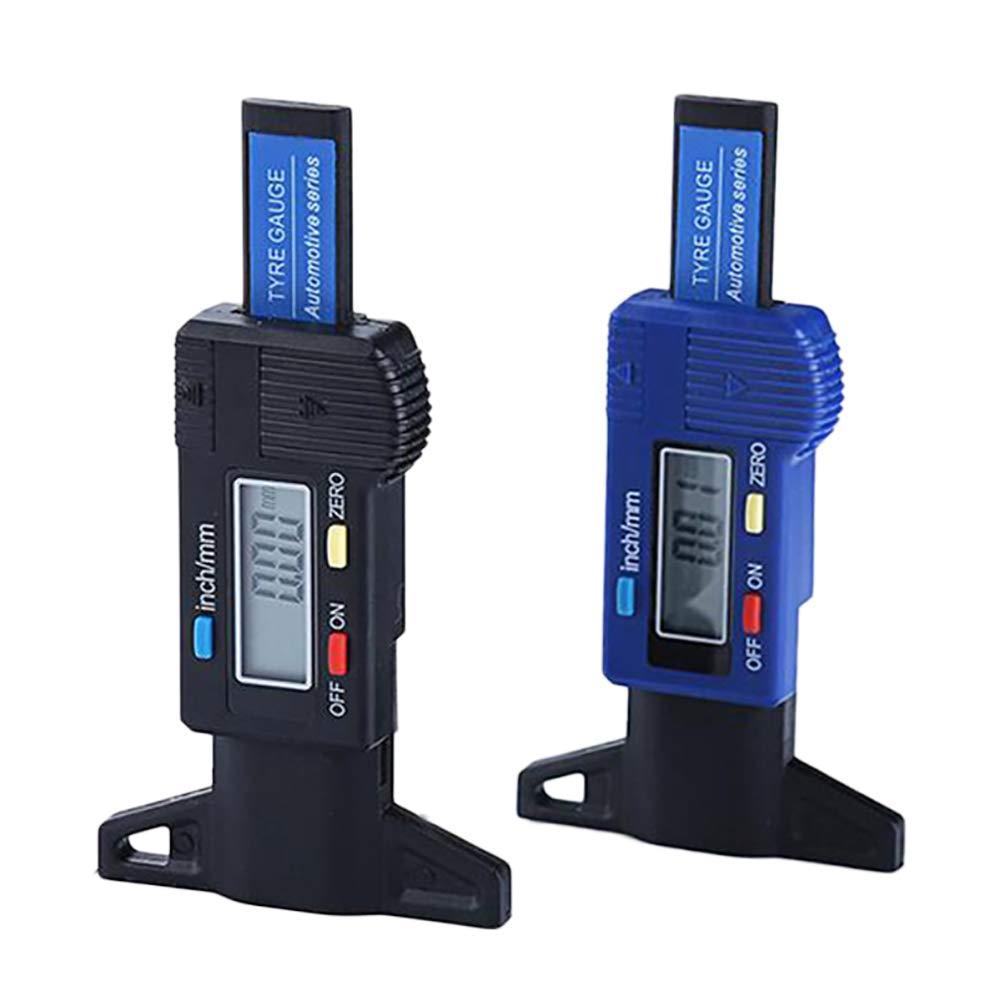 Medidor Digital de Profundidad de neum/áticos liaoting938 Rango de 0 a 25 mm, con Pantalla LCD Grande, Herramienta de medici/ón de Profundidad Ajustable para Motocicleta, Coche, Furgoneta