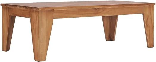 vidaXL Solid Teak Wood Coffee Table Home Living Room Office Furniture Accent End Sofa Side Tea Table 47.2″