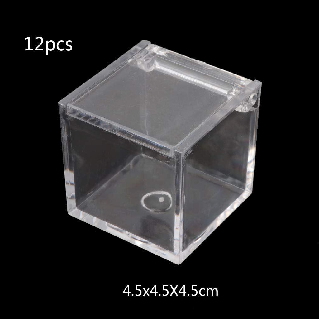 5 Tube + 1 Storage Box Toyvian 6pcs Round Coin Holder Cases Plastic Coin Storage Tubes with Storage Box
