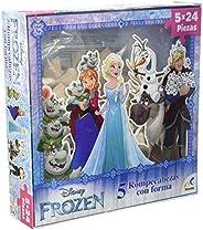 Novelty Corp 5 Rompecabezas con Forma Frozen