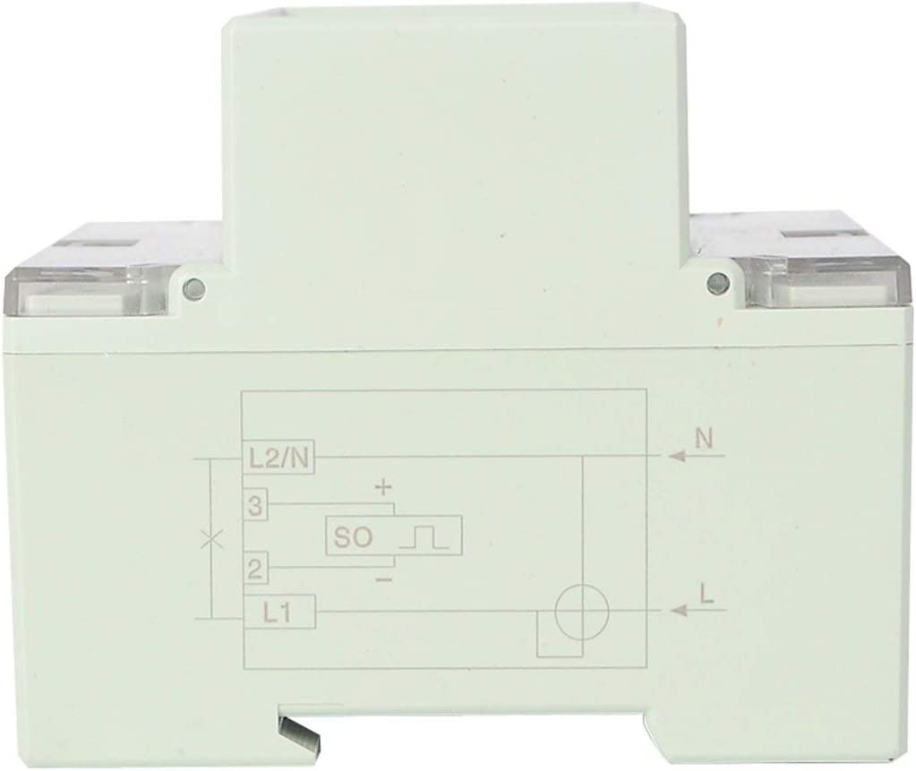 Tree-on-Life 230VAC Single Phase 4P Energy Counter Meter Analog Electric Wattmeter Household Electric Din Rail Meter