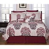 Pointehaven Printed 300 TC 3-Piece 100-Percent Combed Cotton Duvet Set, Cherry Blossom, King by Pointehaven