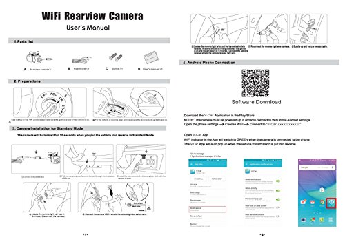 Fumei Wireless Backup Camera for Car with Smart APP Connect to Wifi and Reverse Video Recording for Android and iPhone/iPad by Fumei (Image #5)