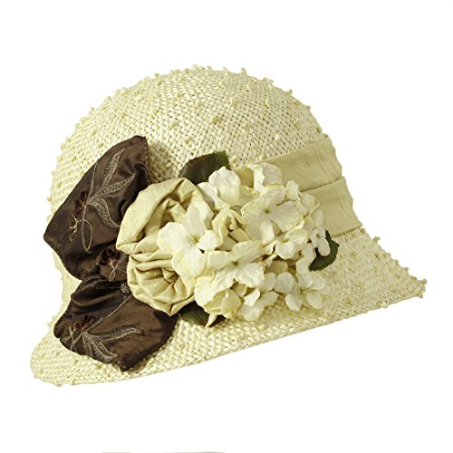 Toucan Hats Rose Branch Cloche. Cream, one size. by Toucan Hats