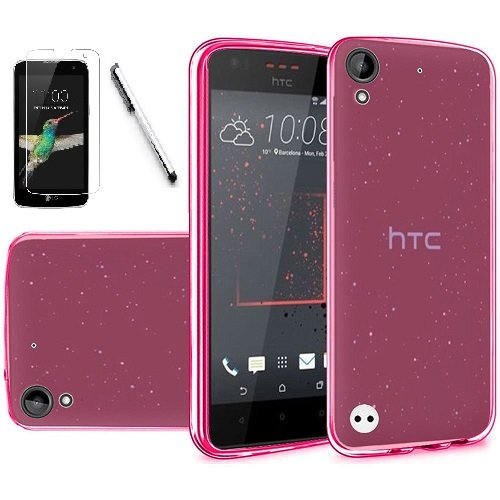 newest 5ac3a 21d81 HTC Desire 530 Case, HTC Desire 630 Case, Luckiefind@ Frosted Matte TPU  Flexible Thin Gel Cover Case, Stylus Pen, Screen Protector Accessory (TPU  ...