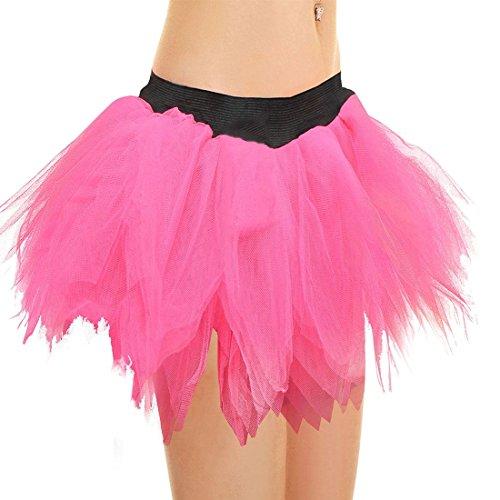 Islander Jupe Porter Taille Petal Fashions Unique Fancy Jupe Femmes Tutu Hen Midi Party Couches Pink 6 Dames Night U7Ur6q