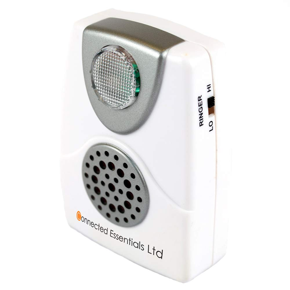 Audible & Visual Telephone Call Alert With Flashing Light & Adjustable  Ringing Volume (Low & High) - Suitable for Noisy Environments & The Hard Of