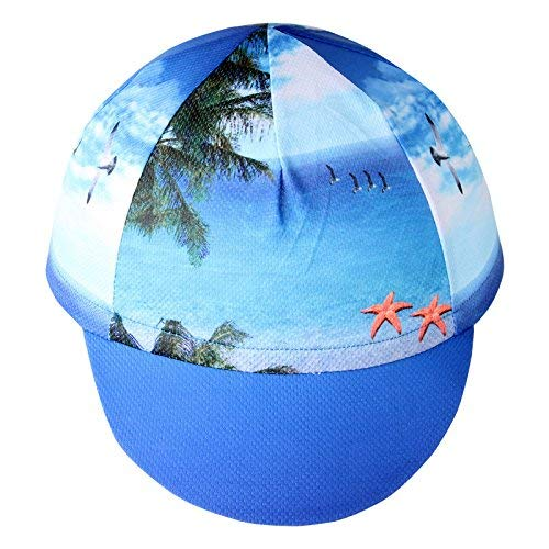 HYSENM Unisex Fashion Cycling Sun Cap Sports Headwear Hat Under Helmet Hat Bike Mountain Bike Cap Quick Dry Sweat Absorption A-5