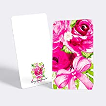 """Tiny Love Cards - Set of 85 Cute BLANK Mini Cards for Hand-Written notes - ANY Occasion - 2"""" x 3.5"""", Small Note Cards (Flowers: Pink)"""