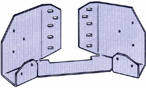 Building Materials Gazebo Tie Connector 16-Gauge Galvanized Steel Hardware