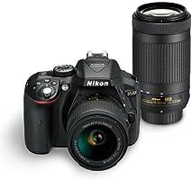 Nikon Digital Camera D5300 BK IN AF-P 18-55 & AF-P DX NIKKOR 70-300mm f/4.5-6.3G VR Kit Free Camera bag and 16GB memory card