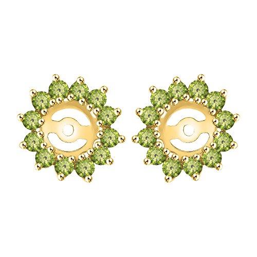 - KATARINA Peridot Earring Jackets in 14K Yellow Gold (1 1/4 cttw)