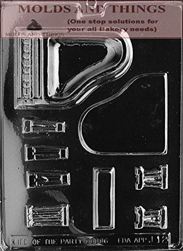 MOLDS AND THINGS Piano Chocolate Candy Mold with Copywrited Candy Making Instruction
