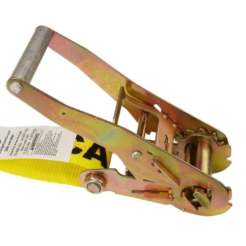 2'' X 27' Ratchet Tie Down Strap with Double Wire J-Hooks (3,333 lbs. Work Load Limit) by US Cargo Control