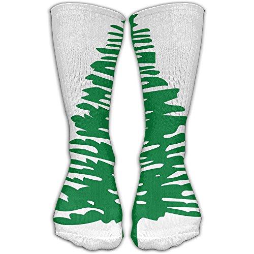 Green Pine Women & Men Socks Soccer Sport Tube Stockings Length 30cm