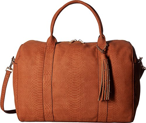 deux-lux-womens-sydney-snake-weekender-with-tassel-cognac-luggage