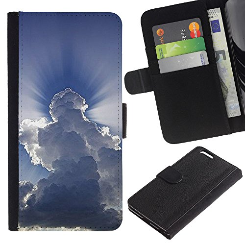 OMEGA Case / Apple Iphone 6 PLUS 5.5 / GOD IS ABLE / Cuir PU Portefeuille Coverture Shell Armure Coque Coq Cas Etui Housse Case Cover Wallet Credit Card