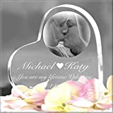 Laser Engraved Acrylic Heart Keepsake Personalized With Text/Pictures/Logos