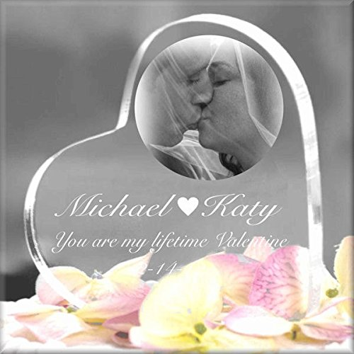 (Laser Engraved Acrylic Heart Keepsake Personalized With Text/Pictures/Logos)