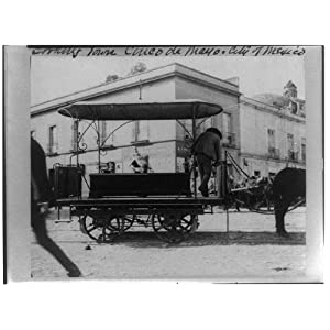Photo: Funeral Car,horse-drawn wagon with coffin,City of Mexico,1884-1891,Kirkbride