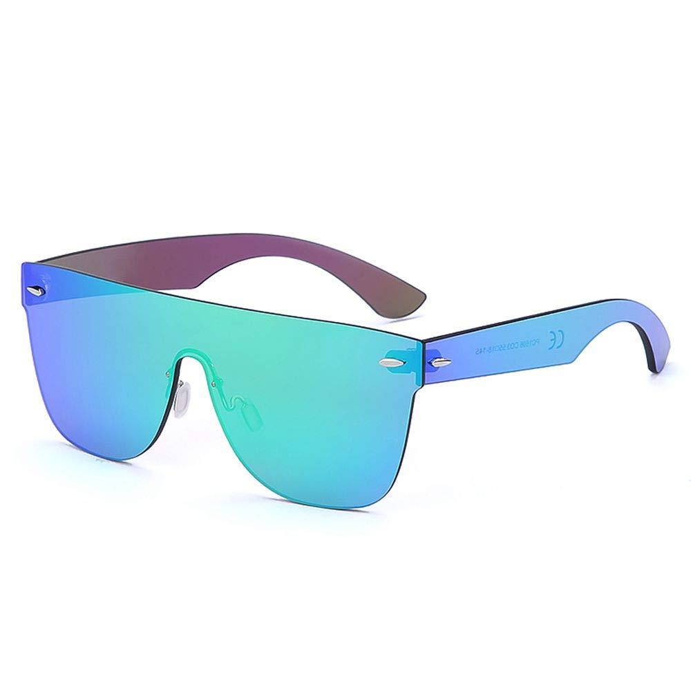 2020 VentiVenti Oversized Square Rimless Sunglasses Rectangular Mirrored Full Eyewear For Women Men Green Mirror by 2020 VentiVenti