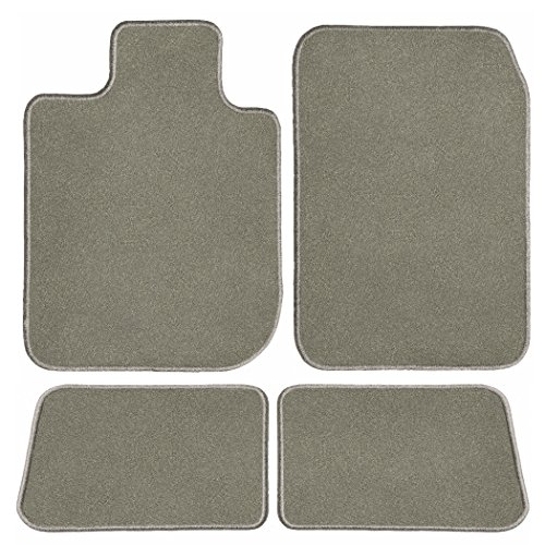 GG Bailey D4649A-S2A-GY Two Row Set Custom Fit Floor Mats for Select Mercedes-Benz S-Class Models - Nylon Fiber (Grey)