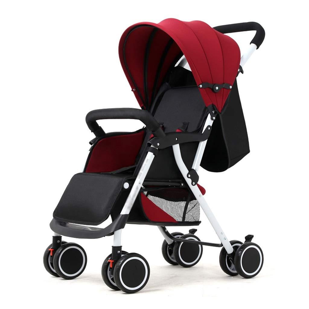 Komfort-Kinderwagen für 0-3 Jahre Kinderleichter faltbarer Kinderwagen   Stoßfeste 8 Räder   Verstellbarer Sitz   Großer Ablagekorb