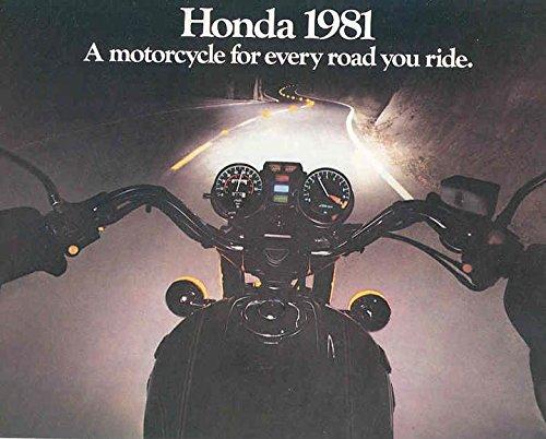 (1981 Honda Motorcycle Brochure Gold Wing CBX)