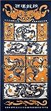 Chinese Wall Decor / Chinese Folk Art: Chinese Batik Wall Hanging - Twin Dragons