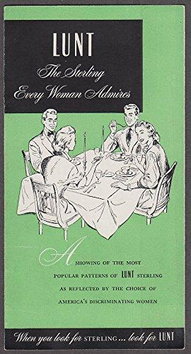 Lunt Sterling Patterns - Lunt Sterling Silver silverware pattern folder 3 1952